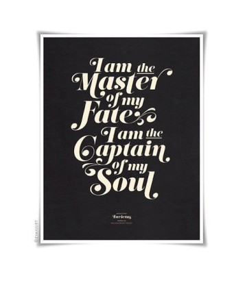 I am the master of my fate quote print - EvaJuliet