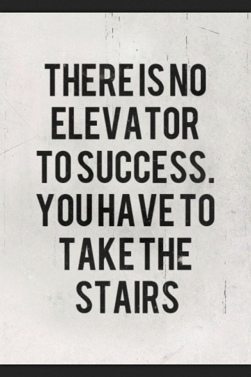 no easy way to success -quote