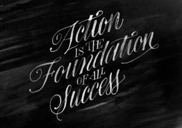 action is the foundation of all success pablo picasso quote via serial thriller