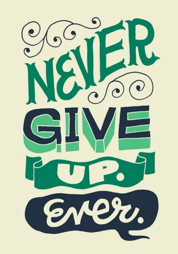 Never Give Up Ever quote by Jay Roeder via flickr